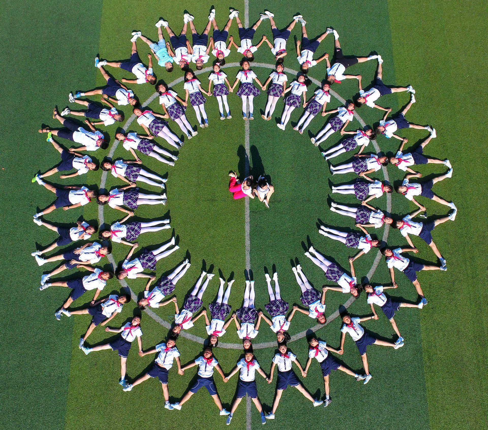 fotografía aérea de escuelas